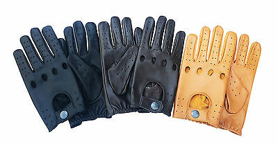 Top Quality Real Soft Leather Men's  Fashion  Stylish Driving Gloves D-513