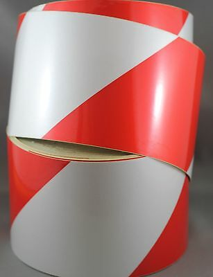 Red/White Class 2 Reflective Tape 100mm x 10m