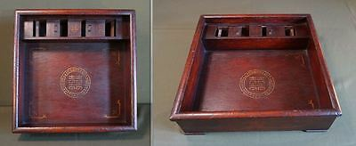 """Rare Early 1900 Korean Folk Item """"Hussy"""" Wooden Container Box for Needlework"""