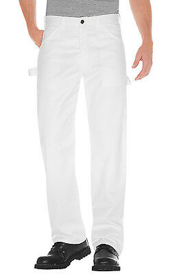 Dickies Mens Painter Work Utility Pants White 36x30 Relaxed Fit Sherwin Will NWT