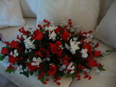 Red /& White Silk Wedding Centerpiece Will Make In Your Colors $79.00 Each
