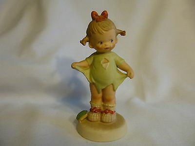"Enesco Memories Of Yesterday ""Mommy I Teared It"" 5 1/2"" Signed 1987 114480"