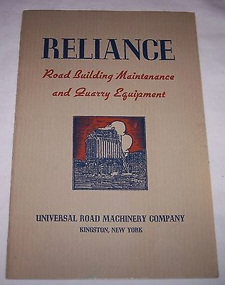 1939 Reliance Road Building and Quarry Equipment catalog book Kingston NY