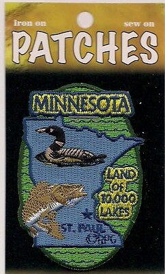 State of Minnesota Souvenir Patch  Land of 10,000 Lakes St Paul