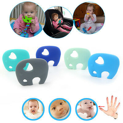 Baby Elephant Pacifier Teething Toy Chewing Bead Pendant Soother Teether On Sale