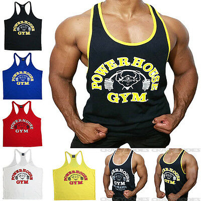 Powerhouse Workout Tank Top Gym Tanks Bodybuilding Stringer Vest Singlet Muscle