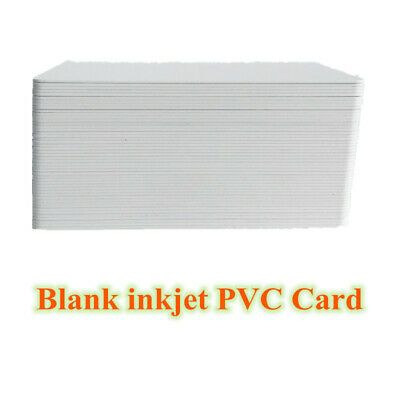100pcs Blank Inkjet Business Card Printable PVC ID Card Badge for Epson Canon