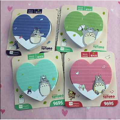 TOTORO 100 Pages Heart Shape Post-it/ Sticky Note/ Memo/ Writing Pad *PINK*