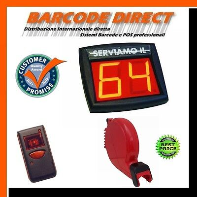Wireless Queue Management System, Complete, Dispenser, Display, Remote Control