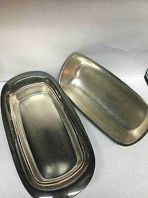 Vintage Fb Rogers Silver Plated Butter Dish Great Condition!!
