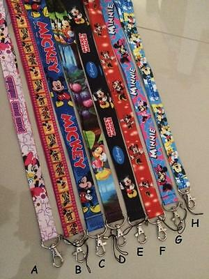 Mickey / Minnie Mouse Lanyard Strap with clip for Key, Phone, Name Tag - 17 Colo