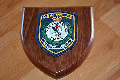 New South Wales Police Plaque
