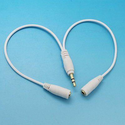 3.5mm Stereo Jack Male to Twin Female Splitter Y Cable AUX Headphone Earphone