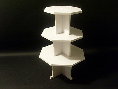 CHUNKY 8MM wedding birthday party cupcake cup cake stand 3 tier octagon strong