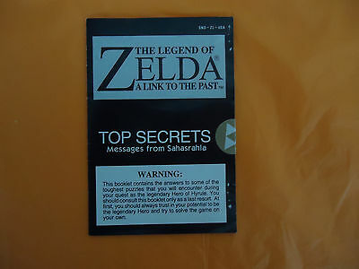 The Legend of Zelda A Link to the Past SNES Top Secrets from Sahasrahla Insert