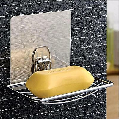 5KG Chrome Strong Suction Wall Soap Dish Holder Bathroom Shower Cup Basket Tray