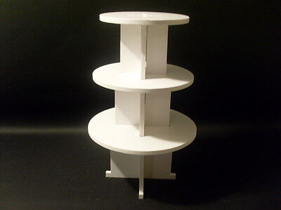 CHUNKY 8MM wedding birthday party cupcake cup cake stand 3 tier round strong