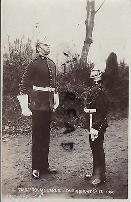Soldier group full dress 7th Dragoon Guards tallest & shortest in regiment