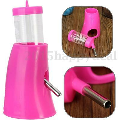 New Plastic 2 in 1 Hamsters Water Bottle Holder Dispenser With Base Hut