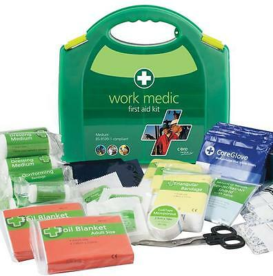 CE APPROVED HIGH QUALITY 140 PIECE - Work Medic First Aid Kit - Medium - BS-8599