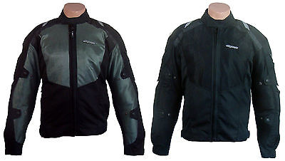 RK Sports Mesh 1717 Motorbike Motorcycle Bike Textile Jacket  Armour Black Grey