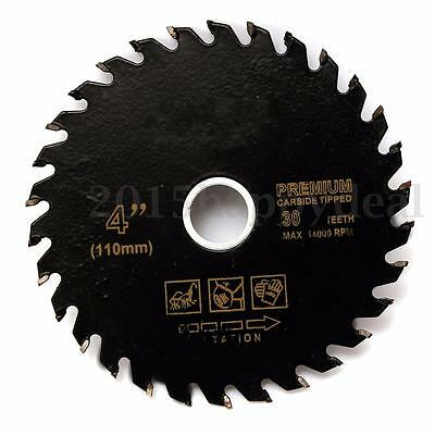110mm 4'' Circular Carbide Tipped Power Cutting Disc Saw Blade Wood Woodworking