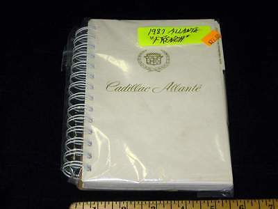 1987 CADILLAC ALLANTE Owners Manual FRENCH FRANCAIS
