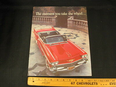 "1958 CADILLAC Car ""The Moment you take the Wheel"" Mailer Sales Brochure"