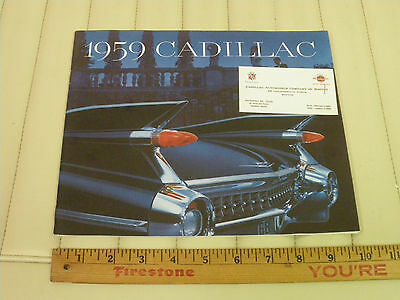 1959 CADILLAC Color Car Sales Catalog Brochure