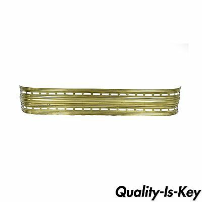 """54"""" Victorian French Style Solid Brass Pierced Fireplace Mantle Fender Surround"""