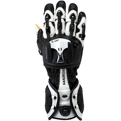 Knox Handroid Motorcycle Gloves Red Hand Armour Summer Motorbike Race Sports