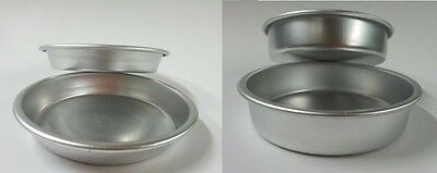 burger round tart tin bake round high low mould mold custard aluminium oven frui