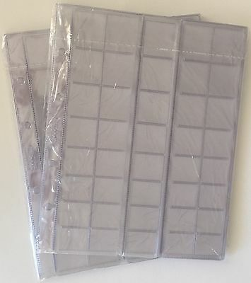 Coin sheets / pages for 40 different coins (cell - diff.) 10 pcs. (Optima size)