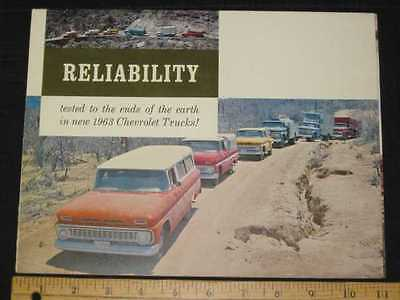 1963 Chevrolet Full Line Folder Sales Brochure