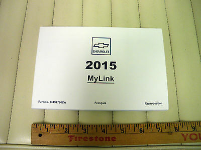 2015 CHEVROLET MYLINK Infotainment System Manual - French