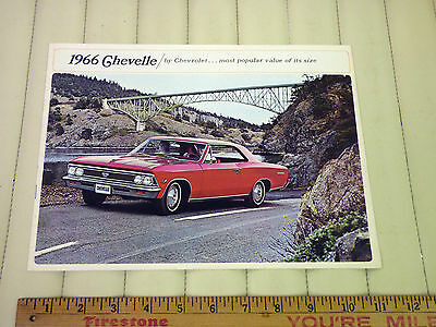 1966 Chevrolet Chevelle Car Catalog Sales Brochure