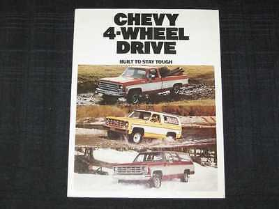 1977 Chevrolet 4WD Trucks Sales Brochure CDN