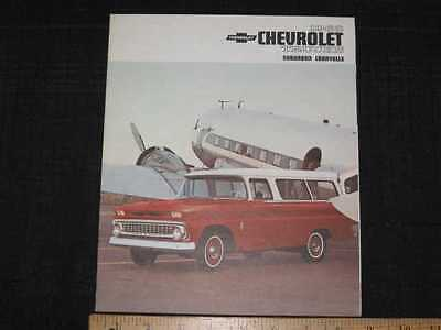 1963 Chevrolet Suburban Carryalls Folder Sales Brochure