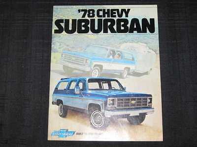 1978 Chevrolet Suburban Catalog Sales Brochure CDN
