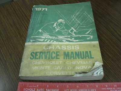1971 Chevrolet Chassis Shop Manual