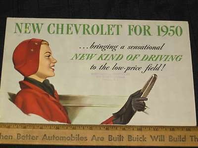1950 Chevrolet New Kind of Driving Folder Sale Brochure