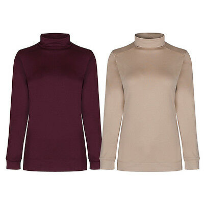 Marks & Spencer Womens Long Sleeve Roll Polo Neck Heatgen™ Thermal New M&S Top