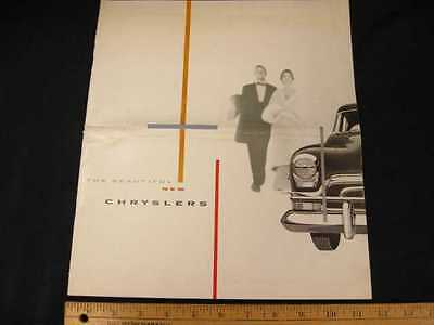1954 Chrysler Top of the Line Car Sales Brochure