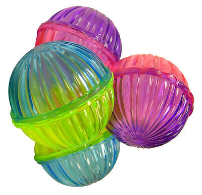 Spot Ethical Pet Products Shimmer Ball Cat Toys with Rattle Beads 4 Pack