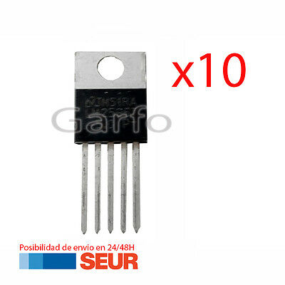 10X Regulador de Tension LM2596T TO-220