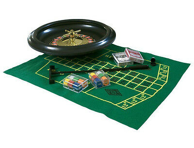 """10"""" Roulette Boxed Full Party Set - Include 1x Rake Wheel, 60 Chips-2 DECK CARDS"""