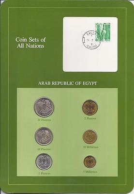 Coin Sets of All Nations - Egypt, 6 coin green set