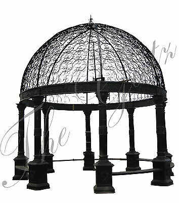 Iron Gazebo, Domed Roof,Bench Seating 20ft Tall Large Victorian Style