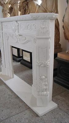 Classic French Design Marble Fireplace Mantel, Hand Carved