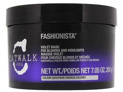 TIGI CATWALK FASHIONISTA VIOLET MASK FOR BLONDES & HIGHLIGHTS 7.05 OZ / 200 g
